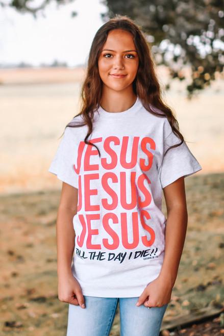 SHORT SLEEVE JESUS-PINK