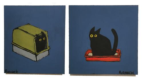 Sherry Rusinack: Poop & Pee (blue set)