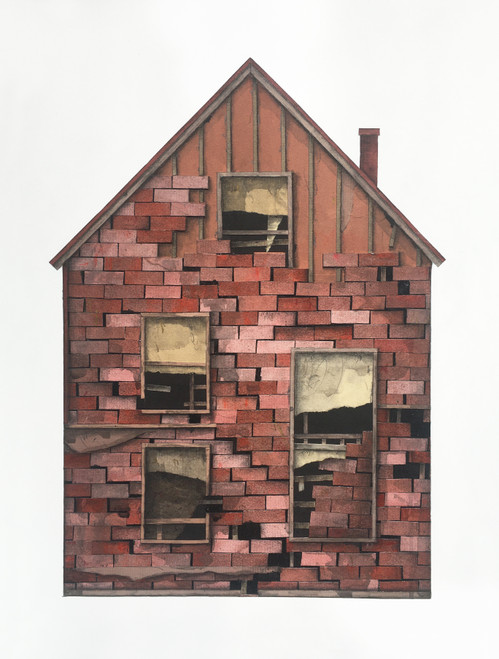 Seth Clark: House Portrait (red brick)
