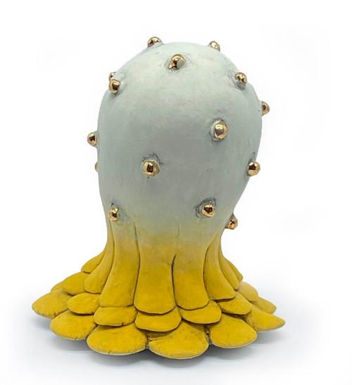 Sara Catapano: Mini Monster (yellow with gold dots)