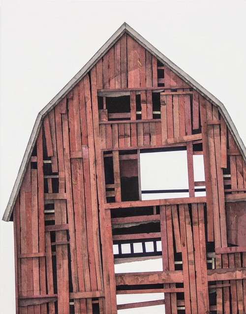Seth Clark: Barn Portrait (red no. 9)