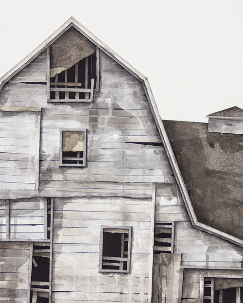 Seth Clark: Barn Portrait (white no. 10)