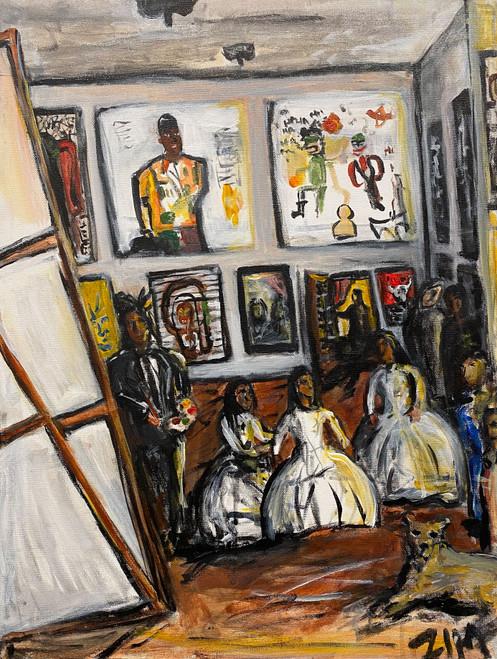Zim Syed: Les Meninas but It's Basquiat