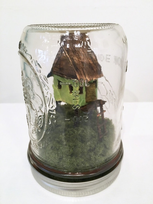 Sherry Rusinack: Cabin in the Woods (green)