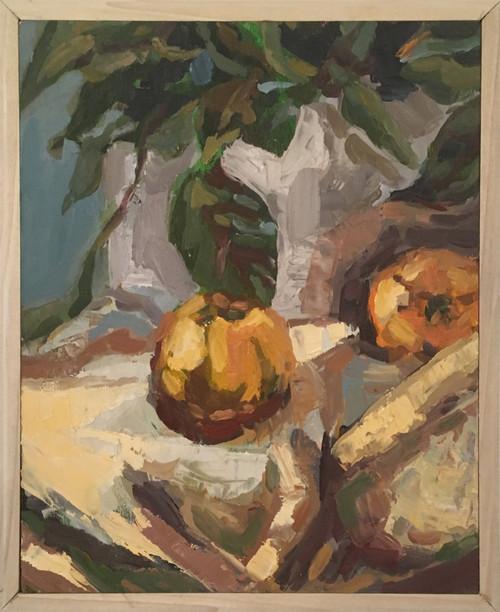 Heather Kanazawa: Peaches with Plant