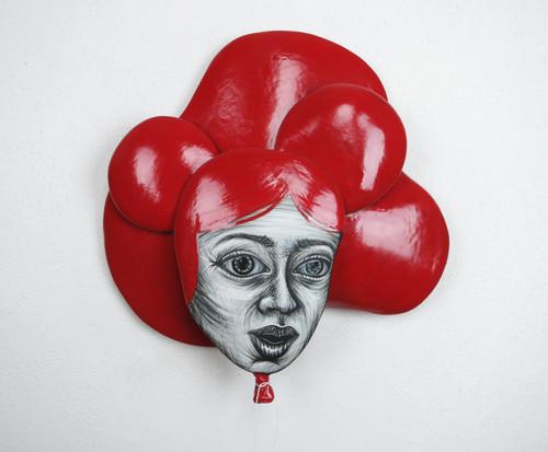Hannah Pierce: Red Balloon Head (left)