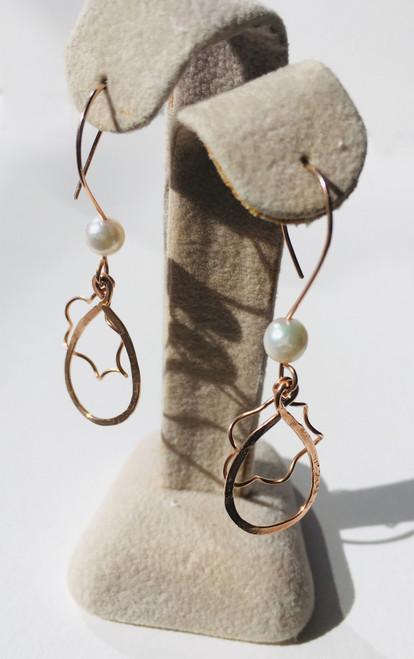 Celest Michelotti: Tears of Joy (14K Rose Gold & Cultured Pearl)