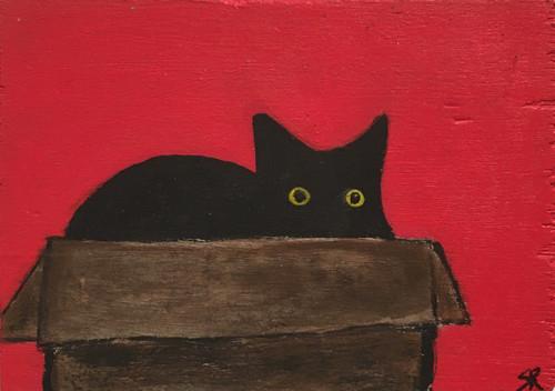 Sherry Rusinack: Cat in a Box (red)