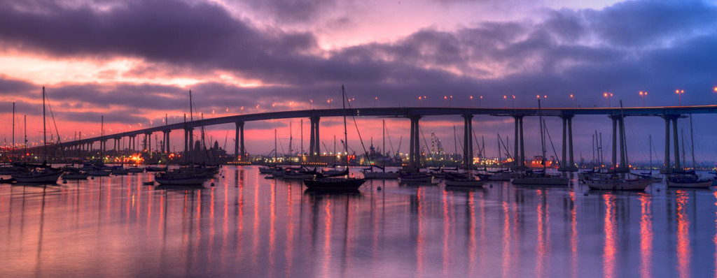 "'Coronado Bridge"" by Cavanah. This is a limited edition, signed and numbered giclŽe print.  A certificate of authenticity will be included with your purchase"