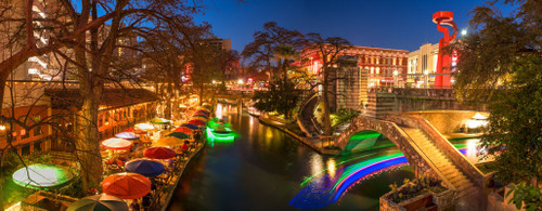 """'Riverwalk San Antonio"""" by Cavanah. This is a limited edition, signed and numbered giclŽe print.  A certificate of authenticity will be included with your purchase"""