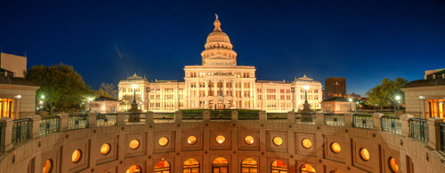 """'Texas State Capitol"""" by Cavanah. This is a limited edition, signed and numbered giclŽe print.  A certificate of authenticity will be included with your purchase"""
