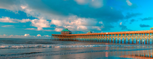 "'Folly Beach Pier"" by Cavanah. This is a limited edition, signed and numbered giclŽe print.  A certificate of authenticity will be included with your purchase"