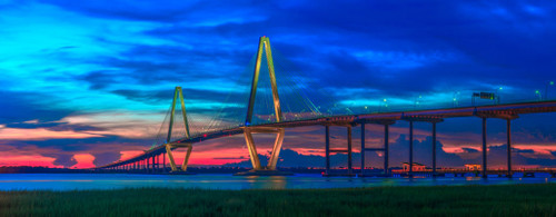 "'Ravenel Bridge"" by Cavanah. This is a limited edition, signed and numbered giclŽe print.  A certificate of authenticity will be included with your purchase"
