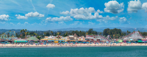 """'Santa Cruz Boardwalk"""" by Cavanah. This is a limited edition, signed and numbered giclŽe print.  A certificate of authenticity will be included with your purchase"""