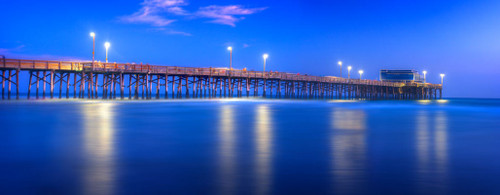 """'Newport Pier"""" by Cavanah. This is a limited edition, signed and numbered giclŽe print.  A certificate of authenticity will be included with your purchase"""