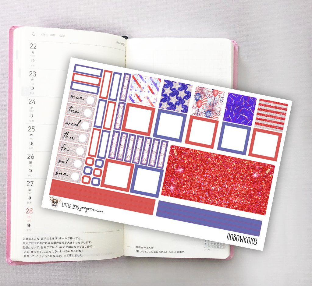 Independence Hobonichi Sticker Kit