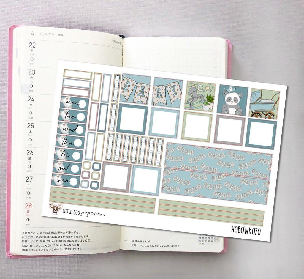 Baby Boy Hobonichi Sticker Kit
