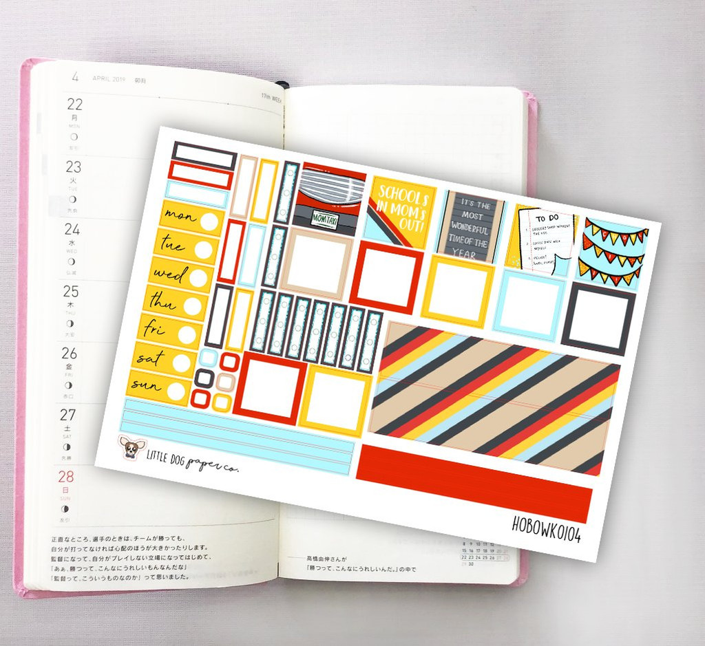 School's In Mom's Out Hobonichi Sticker Kit