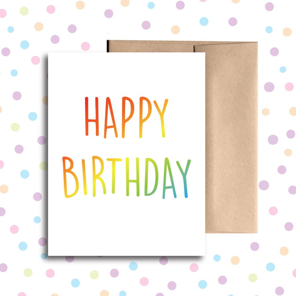Happy Birthday (Rainbow) Card