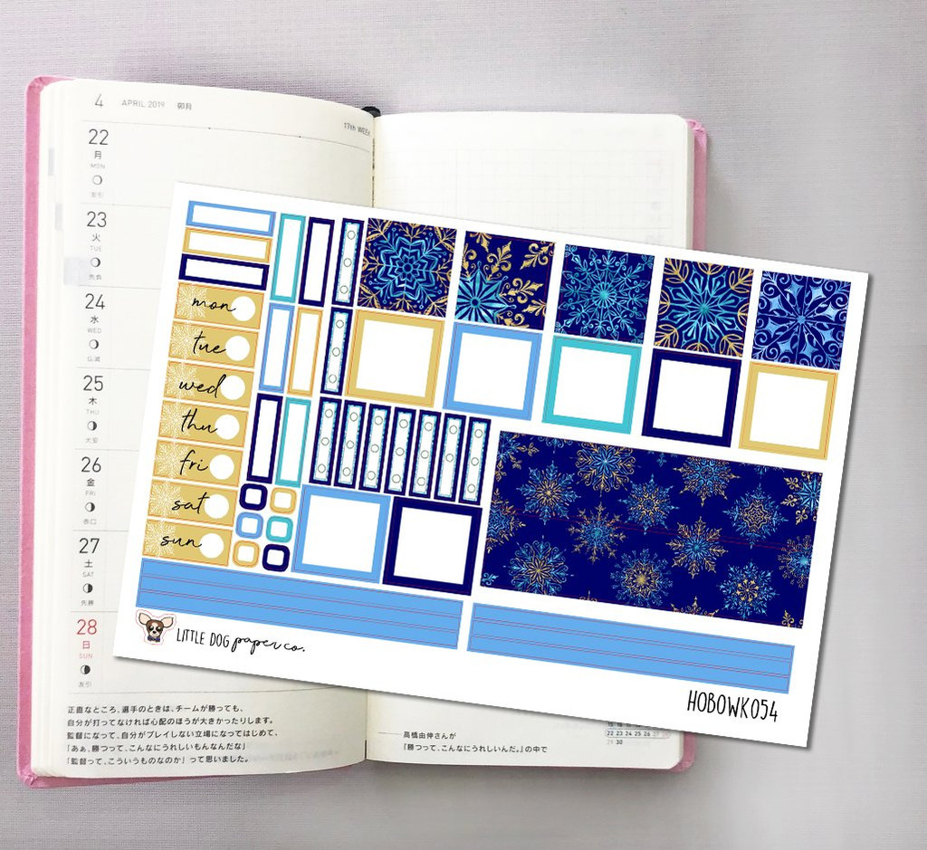Snowflakes Hobonichi Sticker Kit