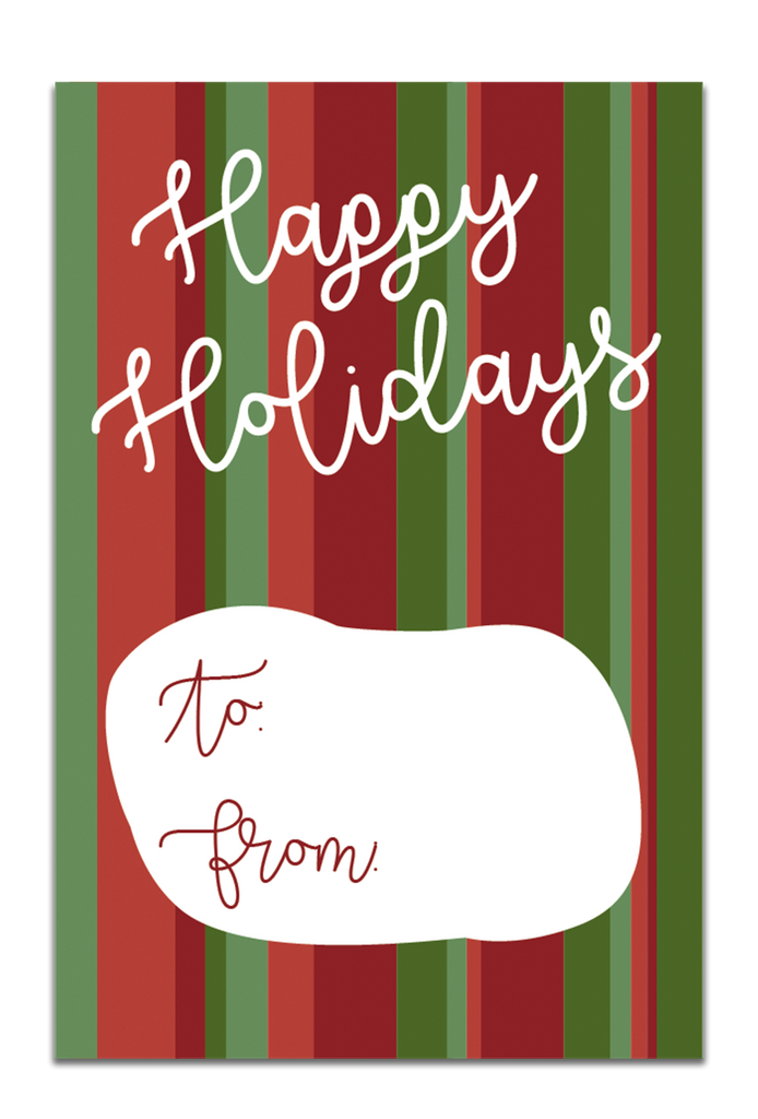 Happy Holidays Gift Tags