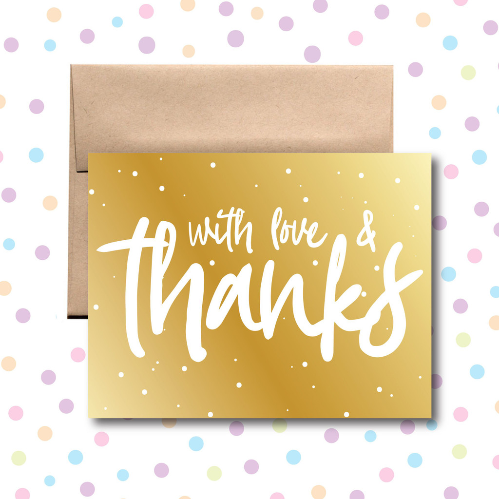 With Love And Thanks Card