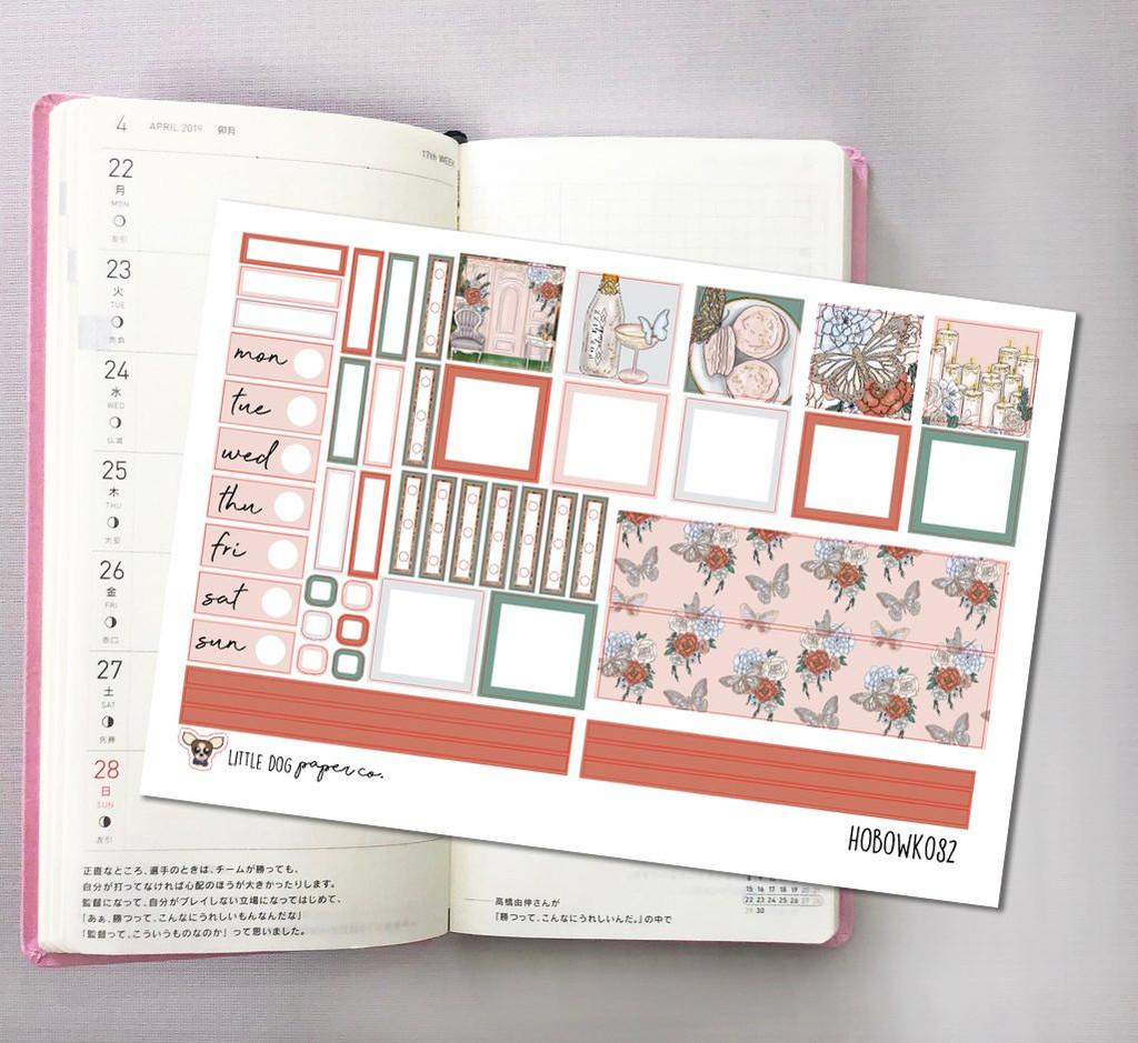 Butterfly Beauty Hobonichi Sticker Kit