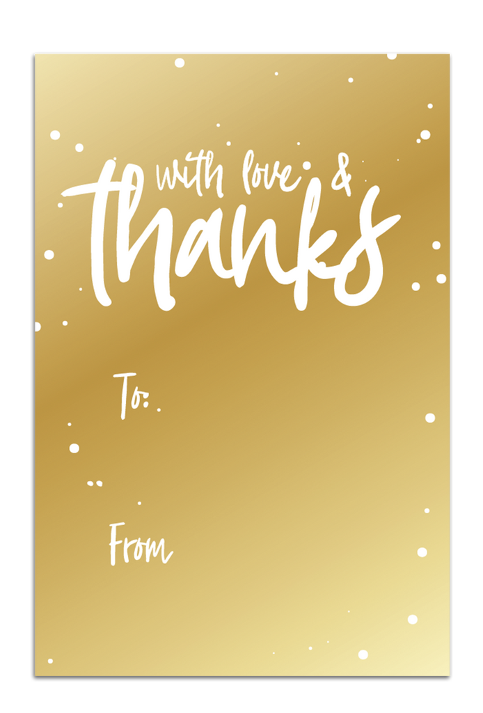 With Love and Thanks Gift Tags