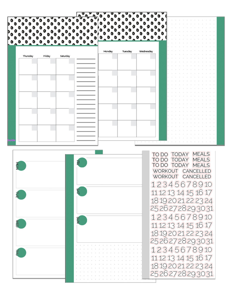 Customizable Weekly A5 Size Planner  Inserts // Three Month Bundle