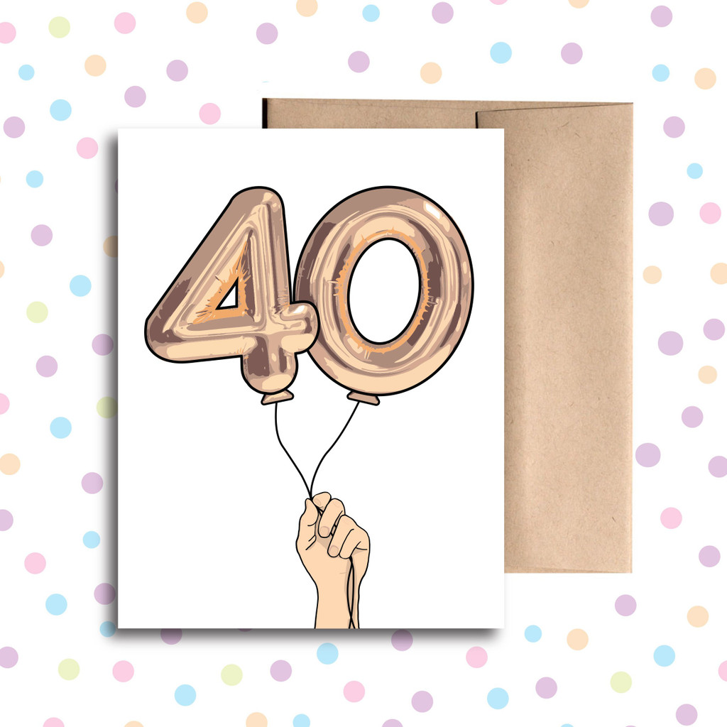 Balloon 40 Card