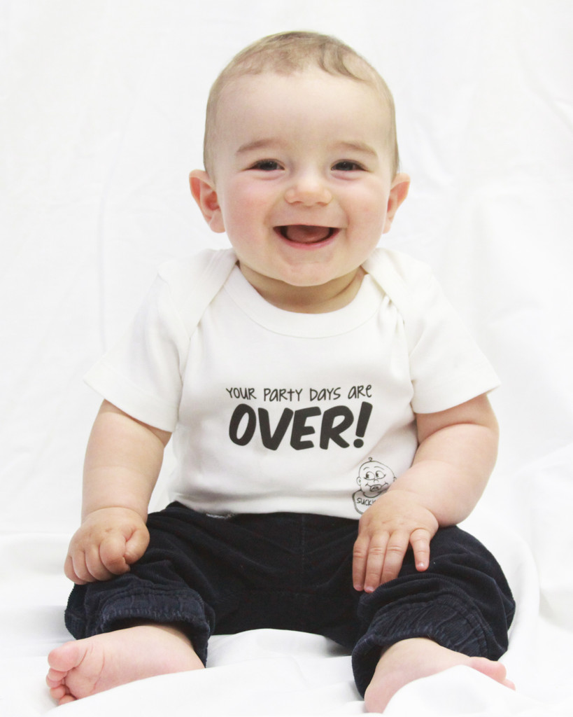 Your Party Days Are OVER! Baby Bodysuit