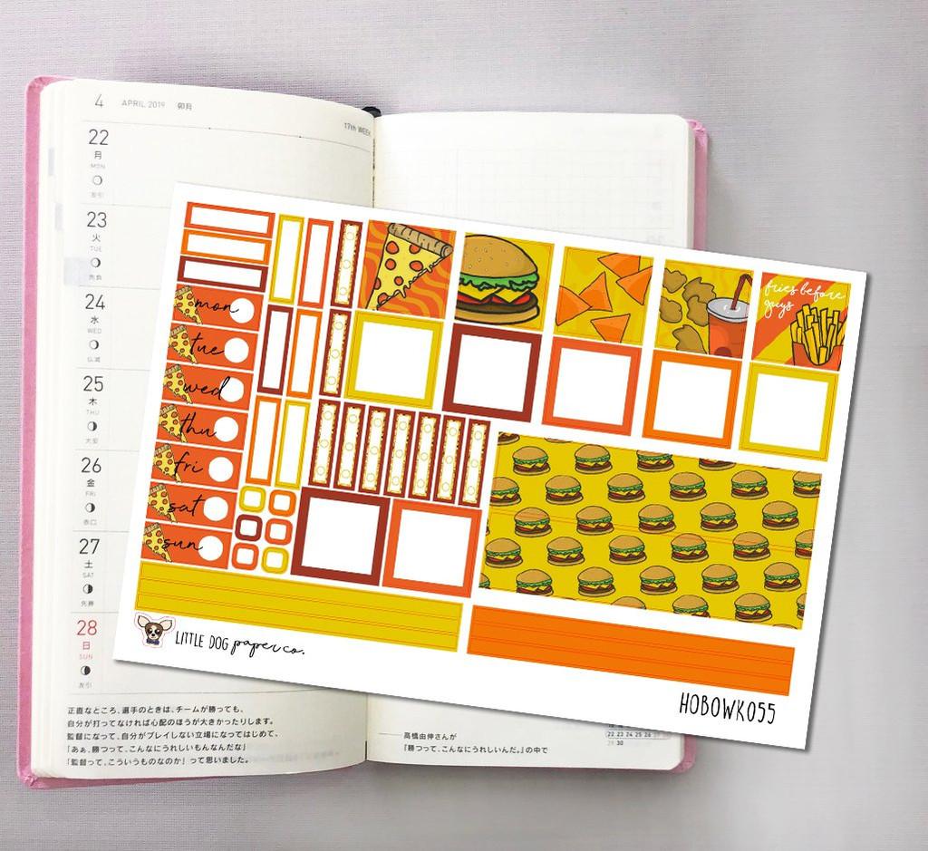 Fast Food Hobonichi Sticker Kit
