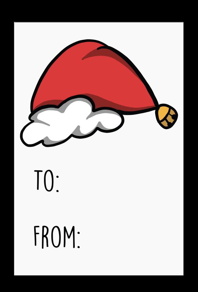 Santa Hat Gift Tags