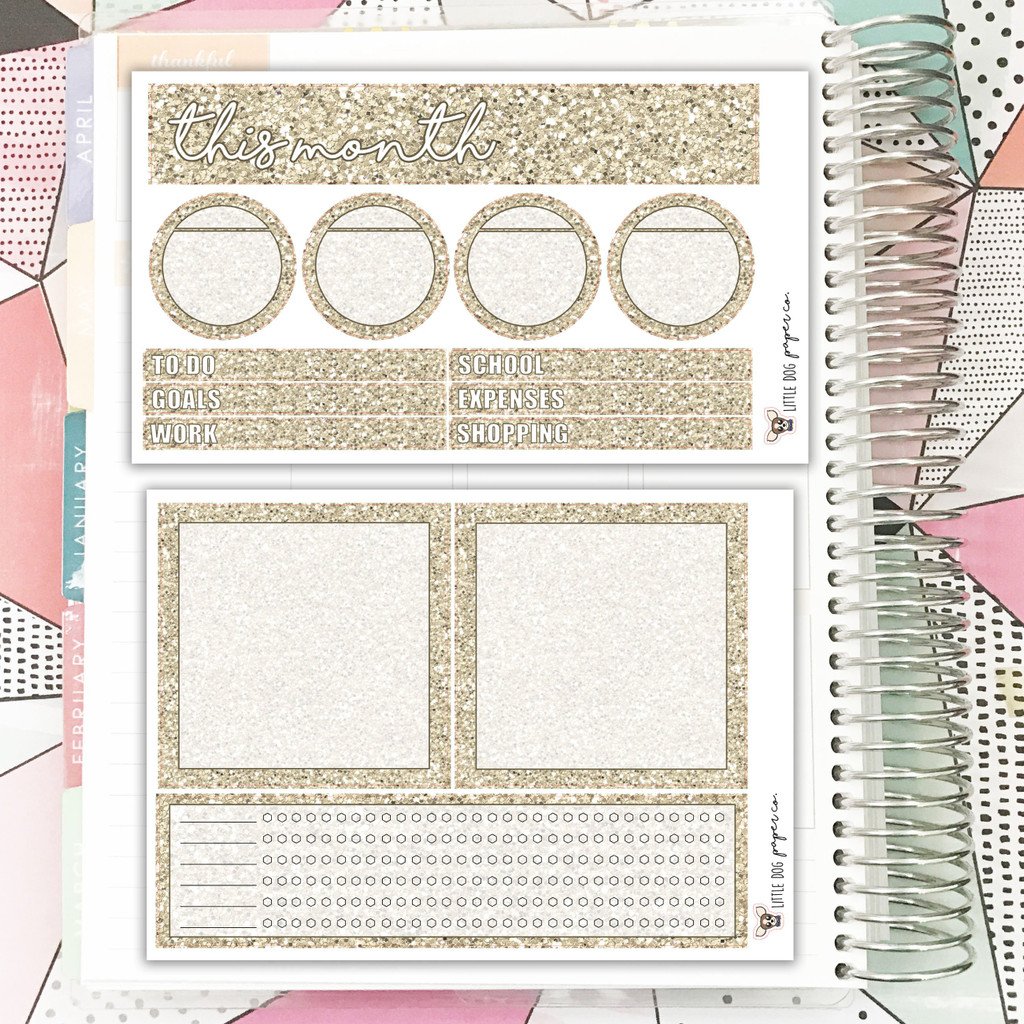 Sand Glitter Notes Pages Kit