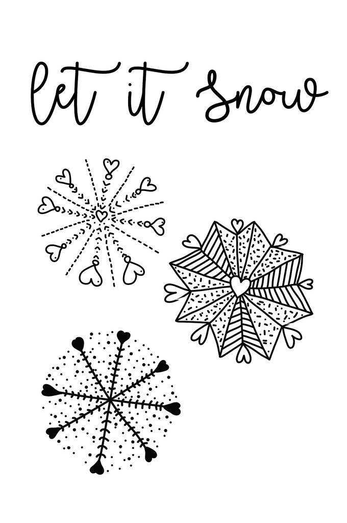 Let it Snow Polymer Stamps