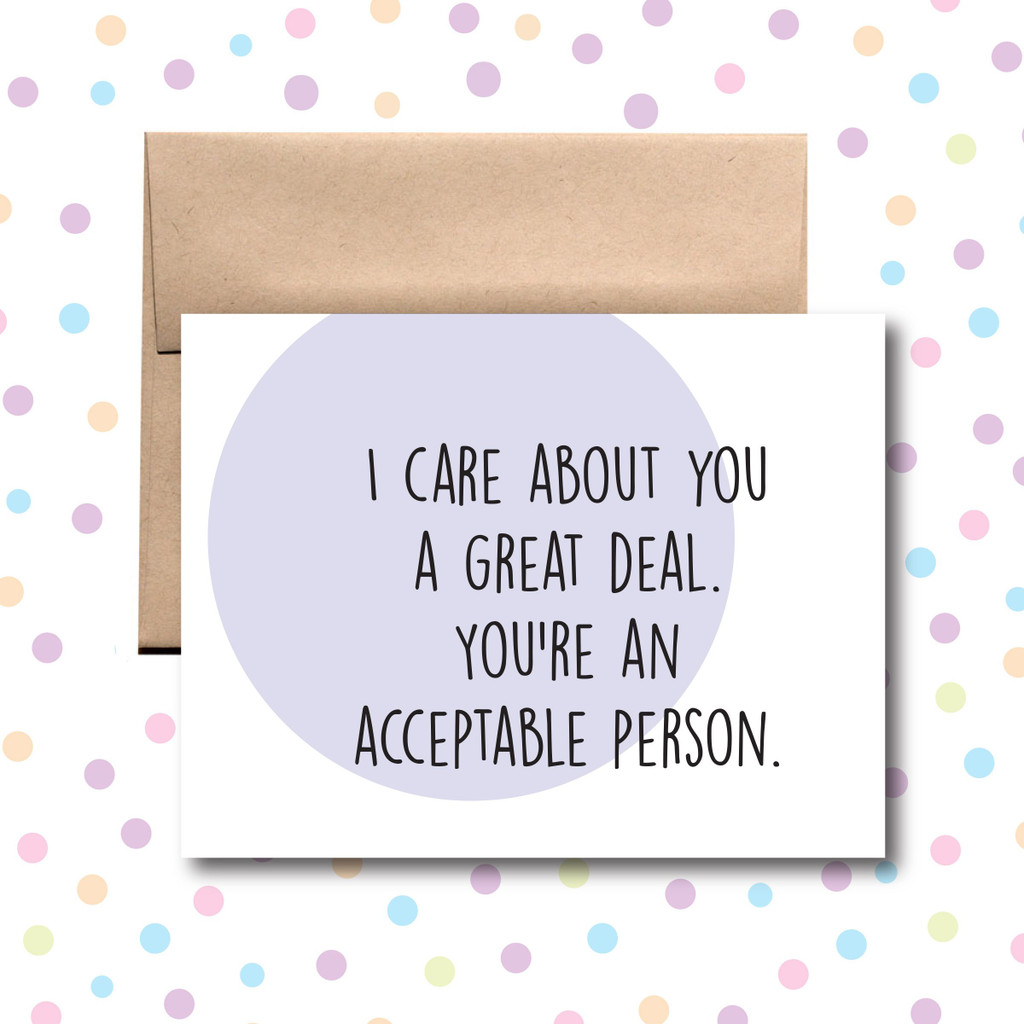 I Care About You Card