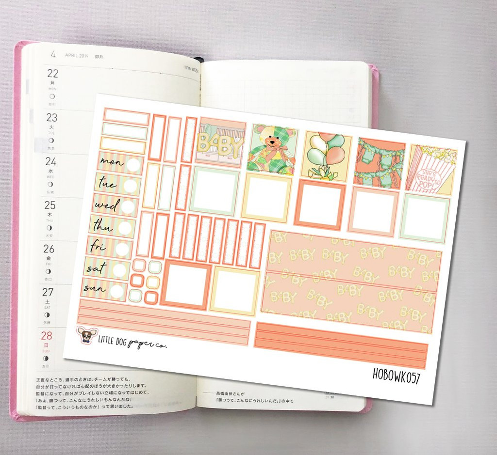 Little One Hobonichi Sticker Kit