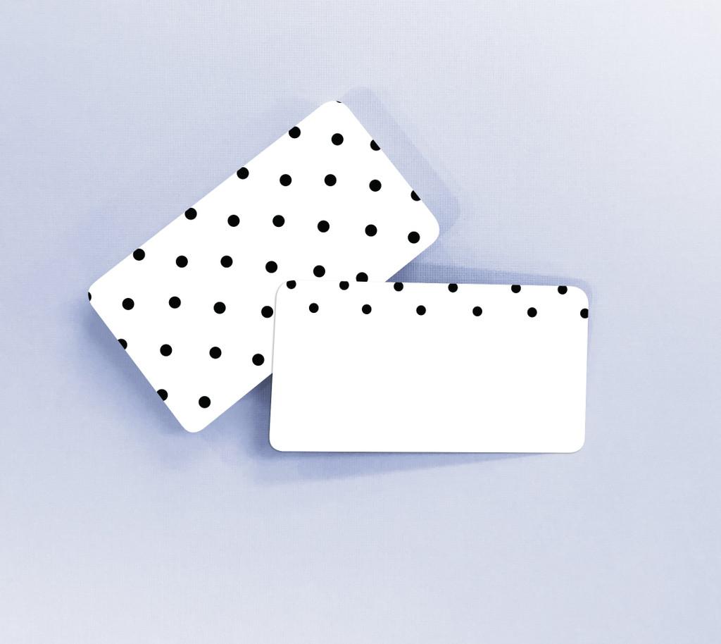 Black Polka Dots Tiny Notes