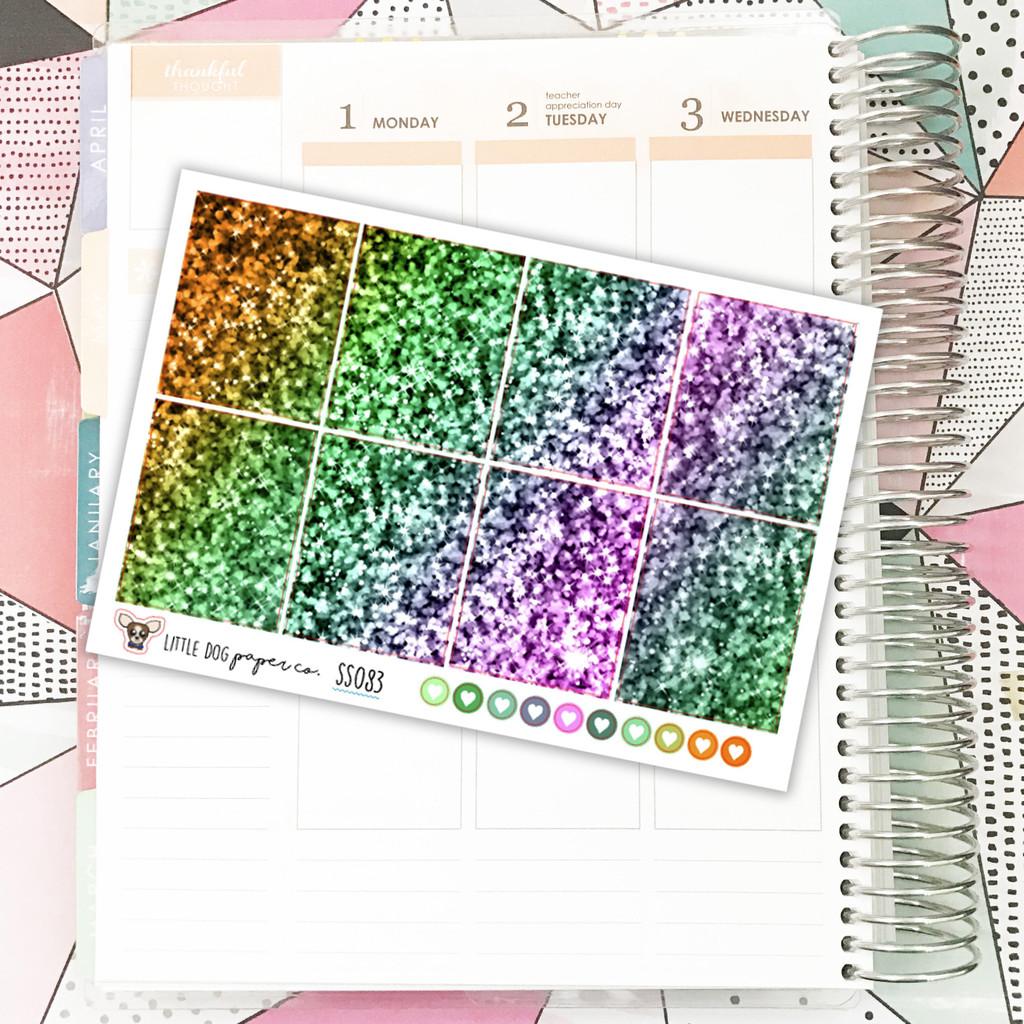 Glitter Full Box Stickers