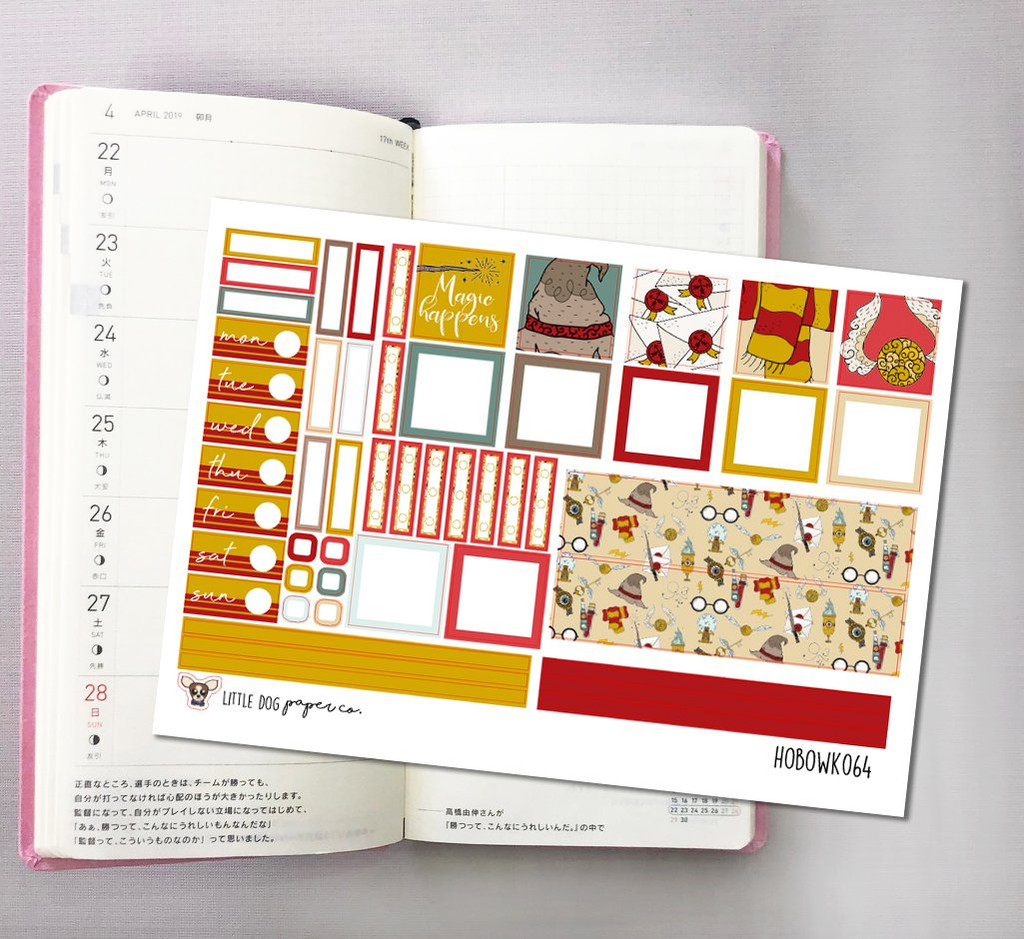 Magic Happens Hobonichi Sticker Kit