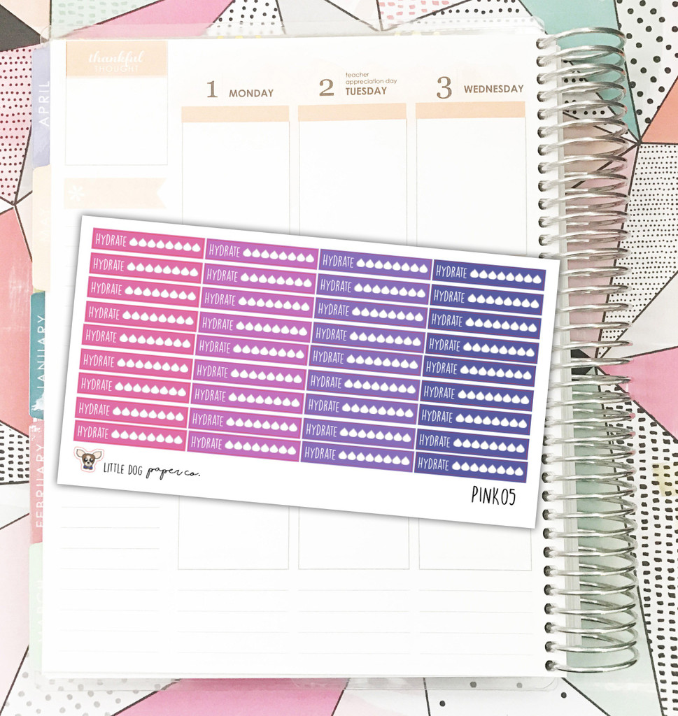 Pink Hydrate Tracker  Stickers