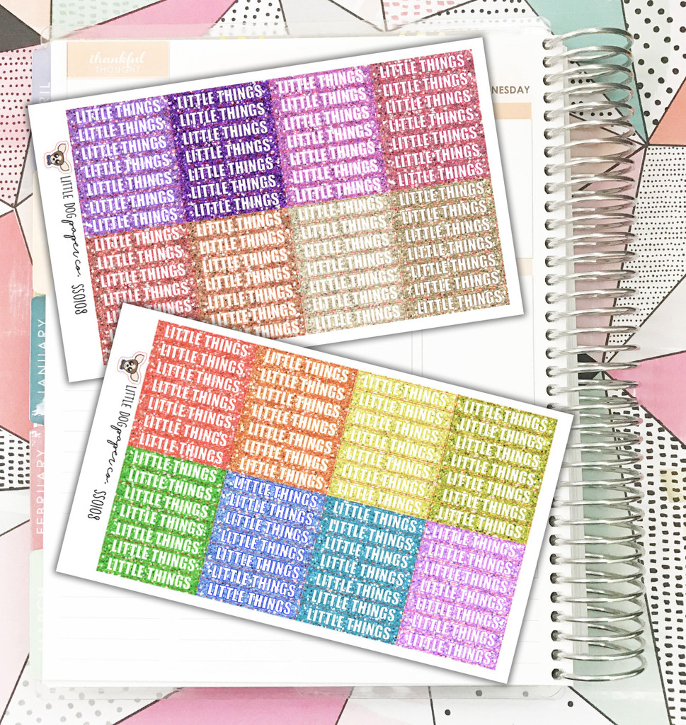 GLITTER // 112 Little Things Label Stickers