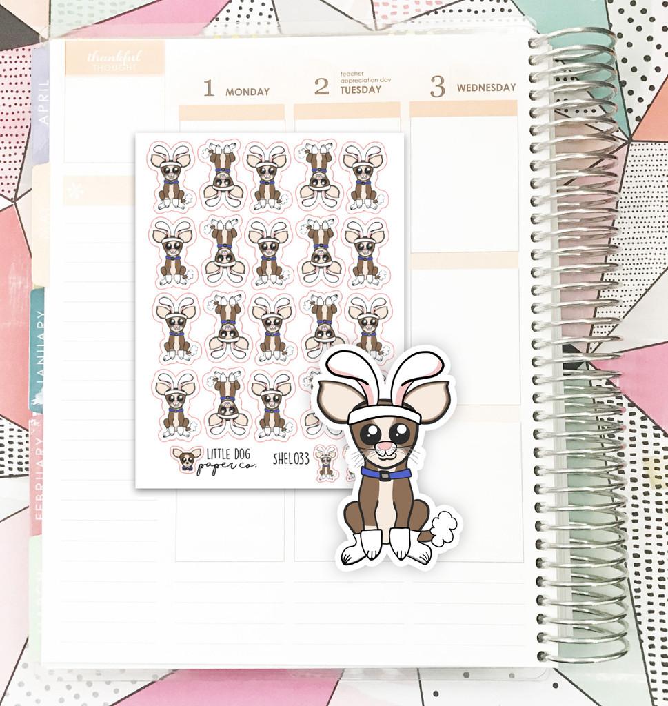 Bunny Sheldon Stickers