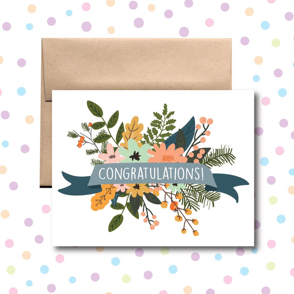 Congratulations Floral Card