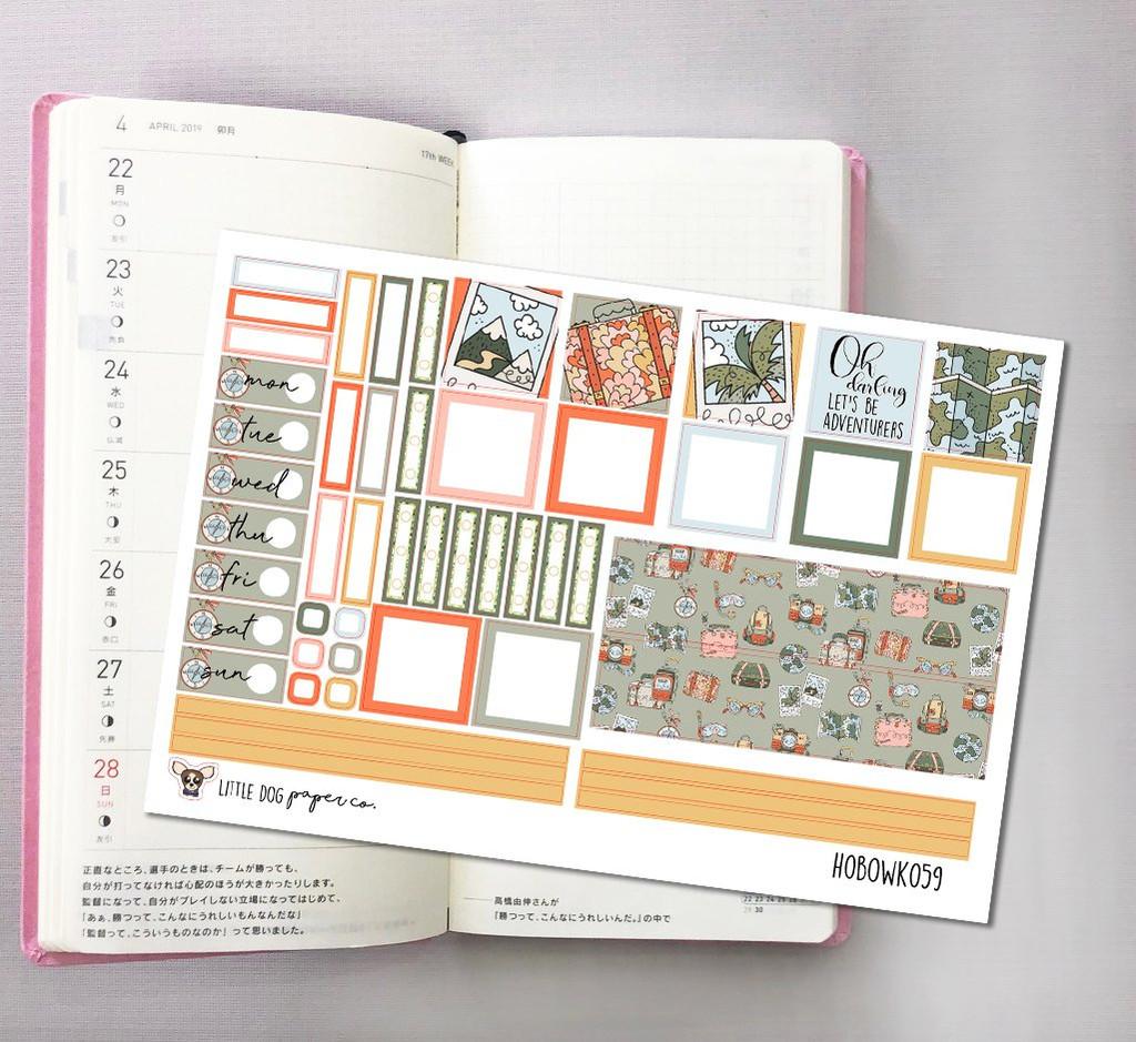 Road Trip Hobonichi Sticker Kit