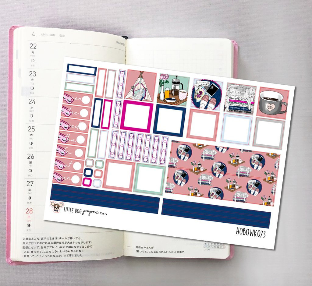 Chill & Relax Hobonichi Sticker Kit