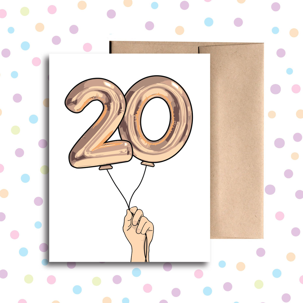 Balloon 20 Card
