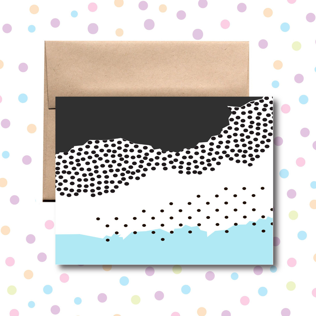 Black and Blue Art Card