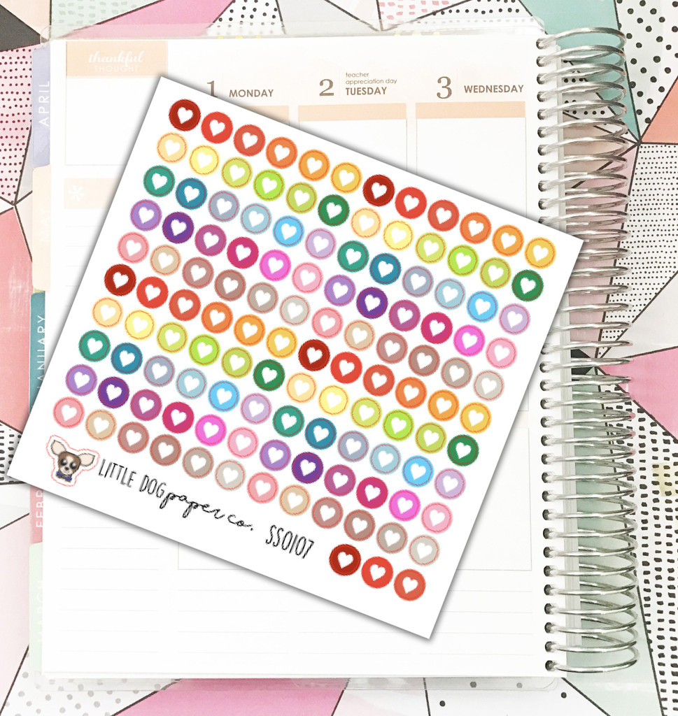 Small Heart Dots Stickers