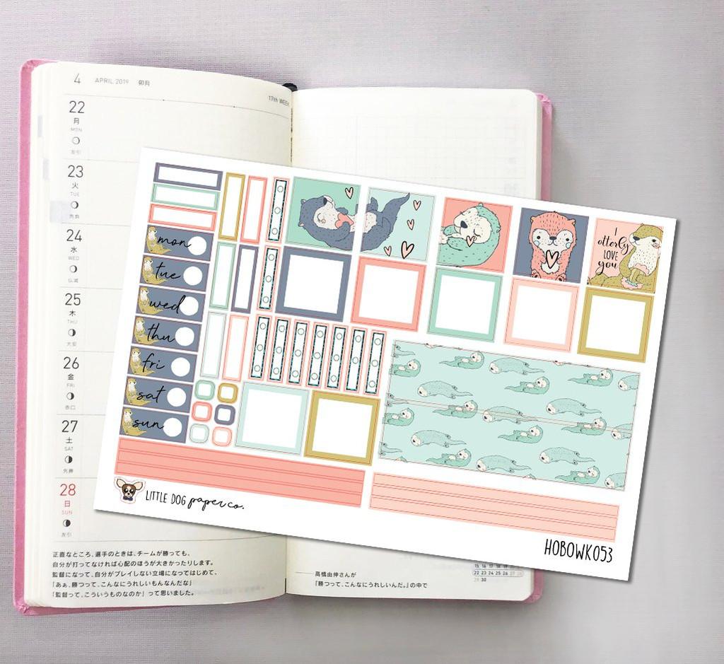 Otterly Love Hobonichi Sticker Kit